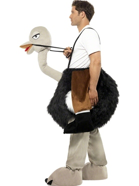 Adult Ostrich Costume - Back View