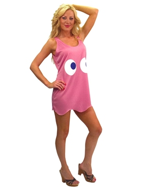 Adult PacMan Pinky Tank Dress Costume