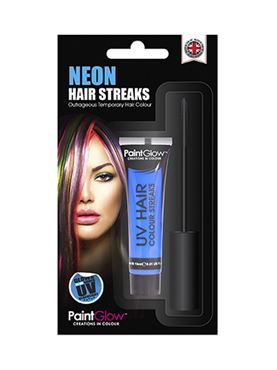 Paintglow UV Blue Hair Colour Streaks