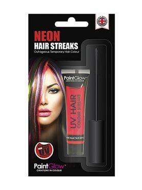 Paintglow UV Red Hair Colour Streaks
