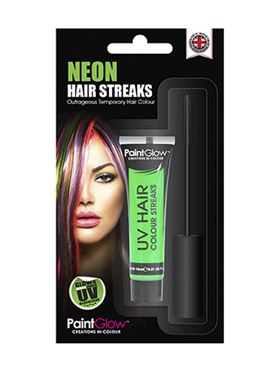 Paintglow UV Green Hair Colour Streaks