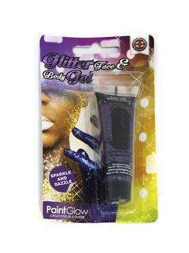 Paintglow Purple Glitter Body Gel