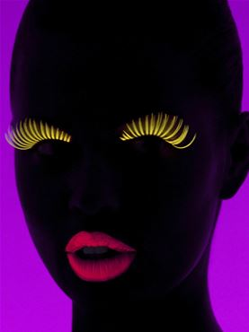 Paintglow Yellow UV Eye Mascara - Back View