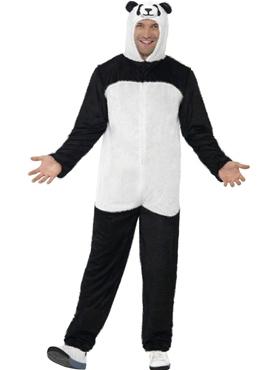 Adult Panda Onesie Costume Thumbnail