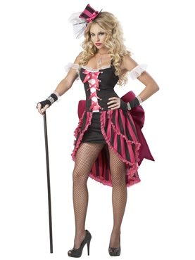 Adult Parisian Showgirl Costume