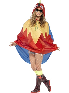 Parrot Party Poncho Festival Costume