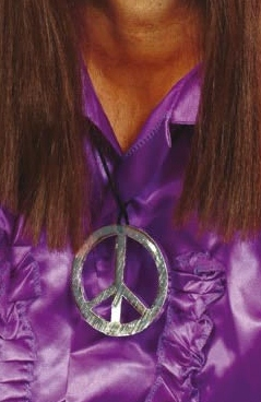 Peace Sign Medallion - Side View
