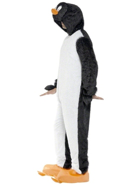 Adult Penguin Onesie Costume - Back View