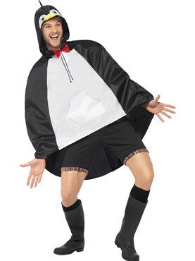 Penguin Party Poncho Festival Costume - Back View