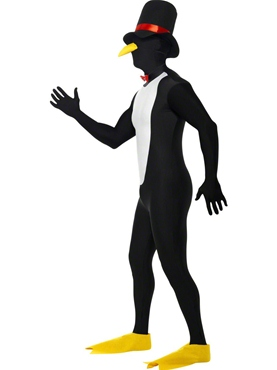 Adult Penguin Second Skin Costume - Back View