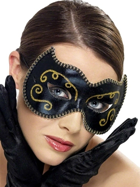 Adult Persian Black and Gold Eyemask