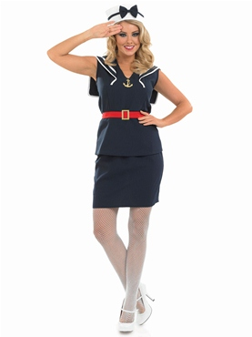 Adult Pin Up Sailor Girl Costume - Back View