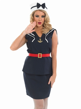 Adult Pin Up Sailor Girl Costume