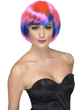 Pink and Blue Funky Babe Wig