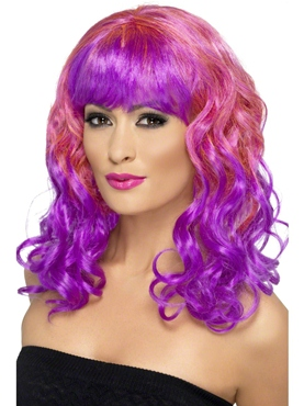 Pink and Purple Divatastic Wig