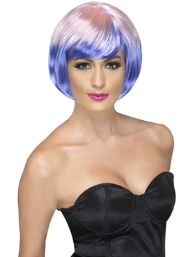 Pink and Purple Funky Babe Wig