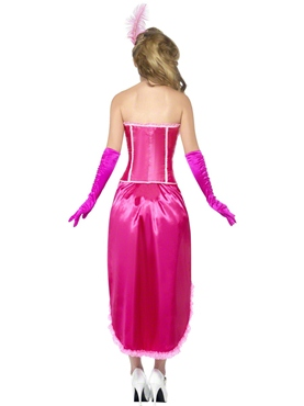 Adult Pink Burlesque Dancer Costume - Side View