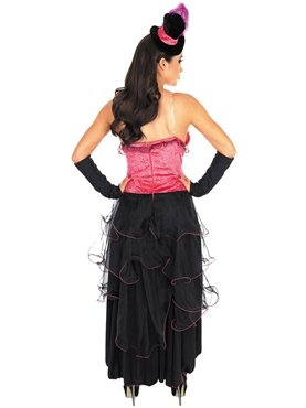 Adult Pink Burlesque Dress Costume - Side View