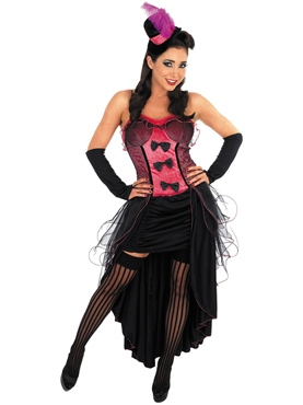 Adult Pink Burlesque Dress Costume