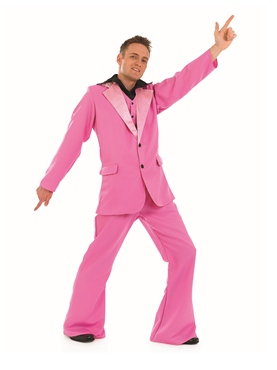 Adult Pink Disco King Costume