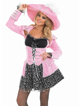 Adult Pink Glitzy Pirate Costume