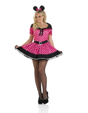 Adult Pink Missy Mouse Costume - Back View
