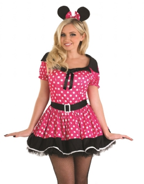 Adult Pink Missy Mouse Costume