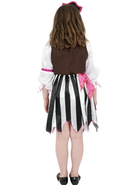 Child Pink Pirate Girl Costume - Side View