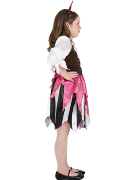 Child Pink Pirate Girl Costume - Back View