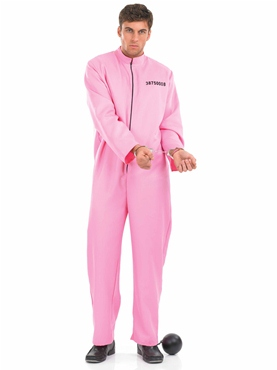 Adult Pink Prisoner Male Costume