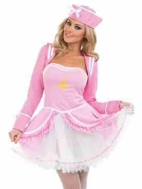 Adult Pink Tutu Sailor Girl Costume