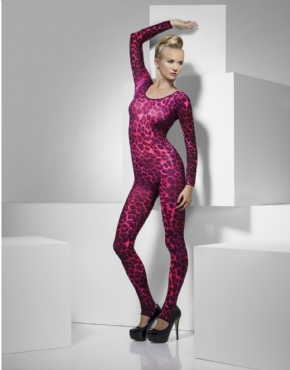 Adult Neon Pink Cheetah Print Body Suit