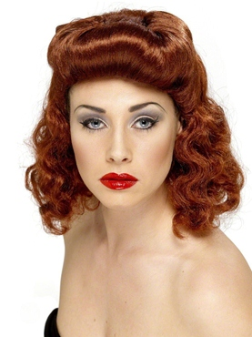 Pin-Up Girl Wig Auburn - Back View
