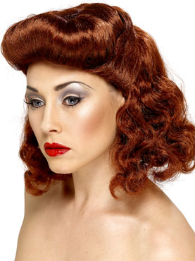 Pin-Up Girl Wig Auburn