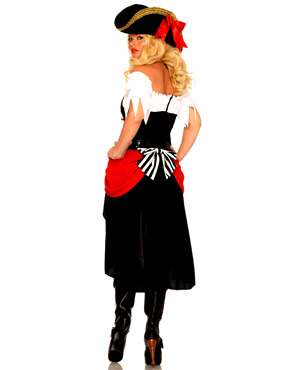 Pirate Beauty Costume - Back View