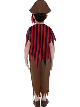 Child Pirate Boy Childrens Costume - Side View