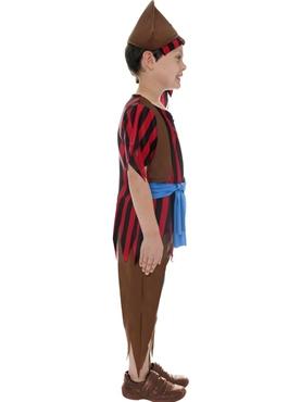 Child Pirate Boy Childrens Costume - Back View