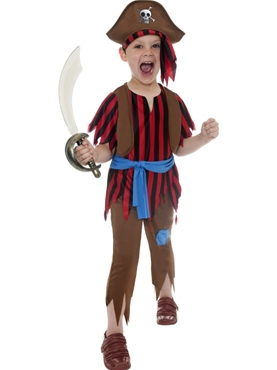 Child Pirate Boy Childrens Costume