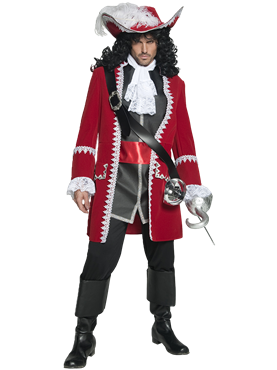 Adult Pirate Captain Costume Couples Costume