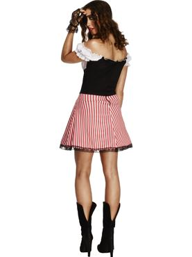 Adult Fever Lace Up Pirate Costume - Side View