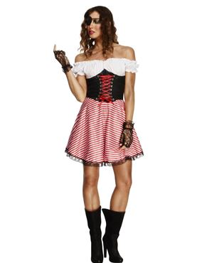 Adult Fever Lace Up Pirate Costume