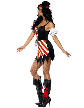 Adult Fever Pirate Costume - Side View