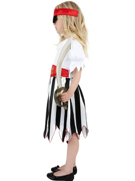 Child Pirate Girl Childrens Costume - Side View