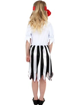 Child Pirate Girl Childrens Costume - Back View