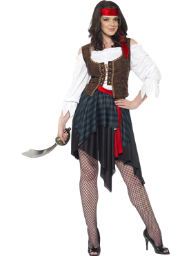 Adult Pirate Lady Costume Couples Costume