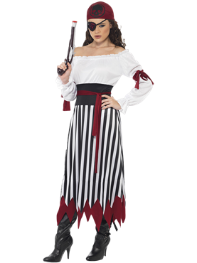 Adult Pirate Lady Dress Costume Couples Costume