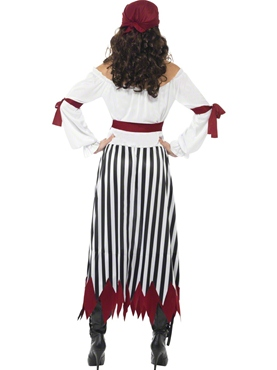 Adult Pirate Lady Dress Costume - Side View