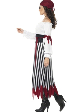 Adult Pirate Lady Dress Costume - Back View