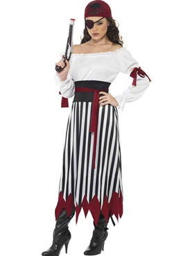 Adult Pirate Lady Dress Costume