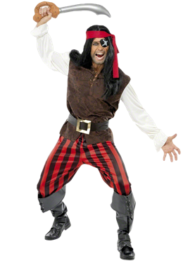 Adult Pirate Ship Mate Costume Couples Costume